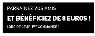 Parrainez vos amis et bénéficiez de 8 euros lors de leur première commande