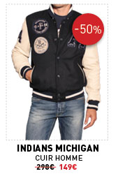 Indians Michigan Cuir Homme 298 € -50% 149 €